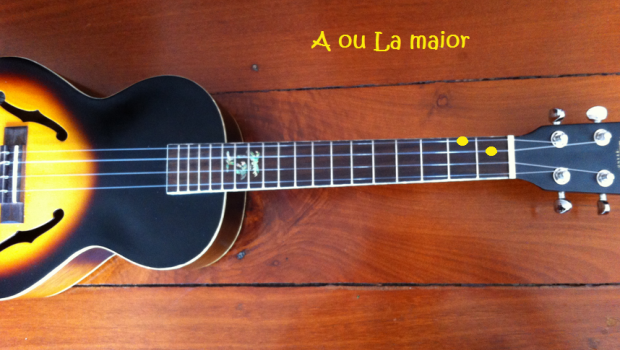 acorde A ou la maior no ukulele