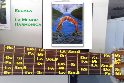escala la menor harmonica
