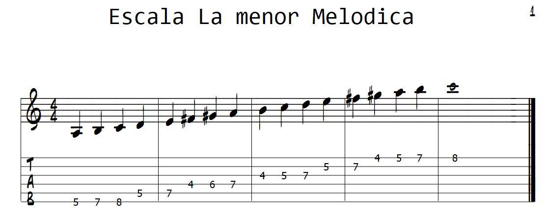 la menor melodica