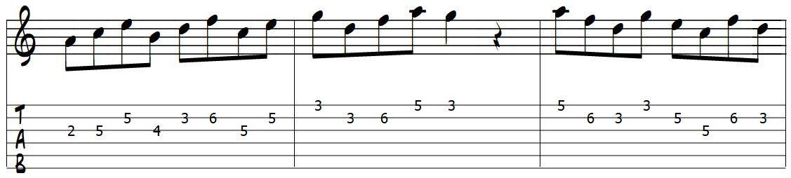 padrão de movimento para desenho da 5 -2