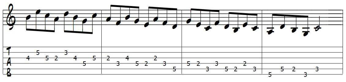 padrão de movimento para desenho da 5 -3
